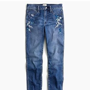 J. Crew Embroidered Vintage Straight Jeans